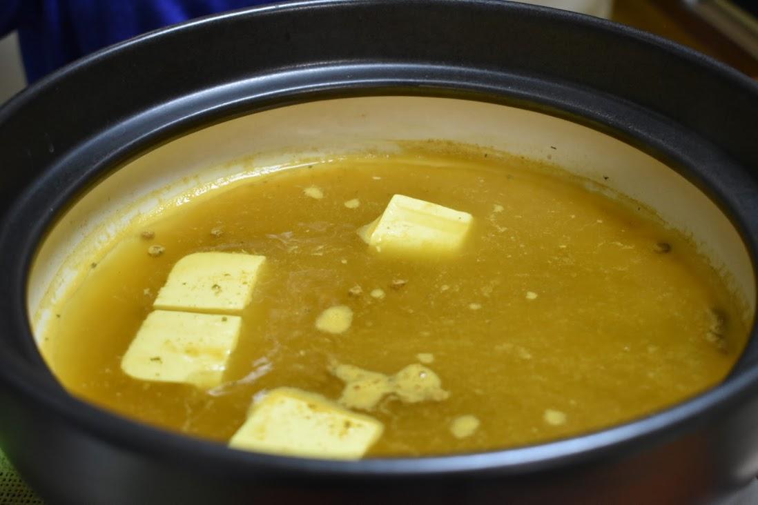 しゃぶしゃぶスープの完成