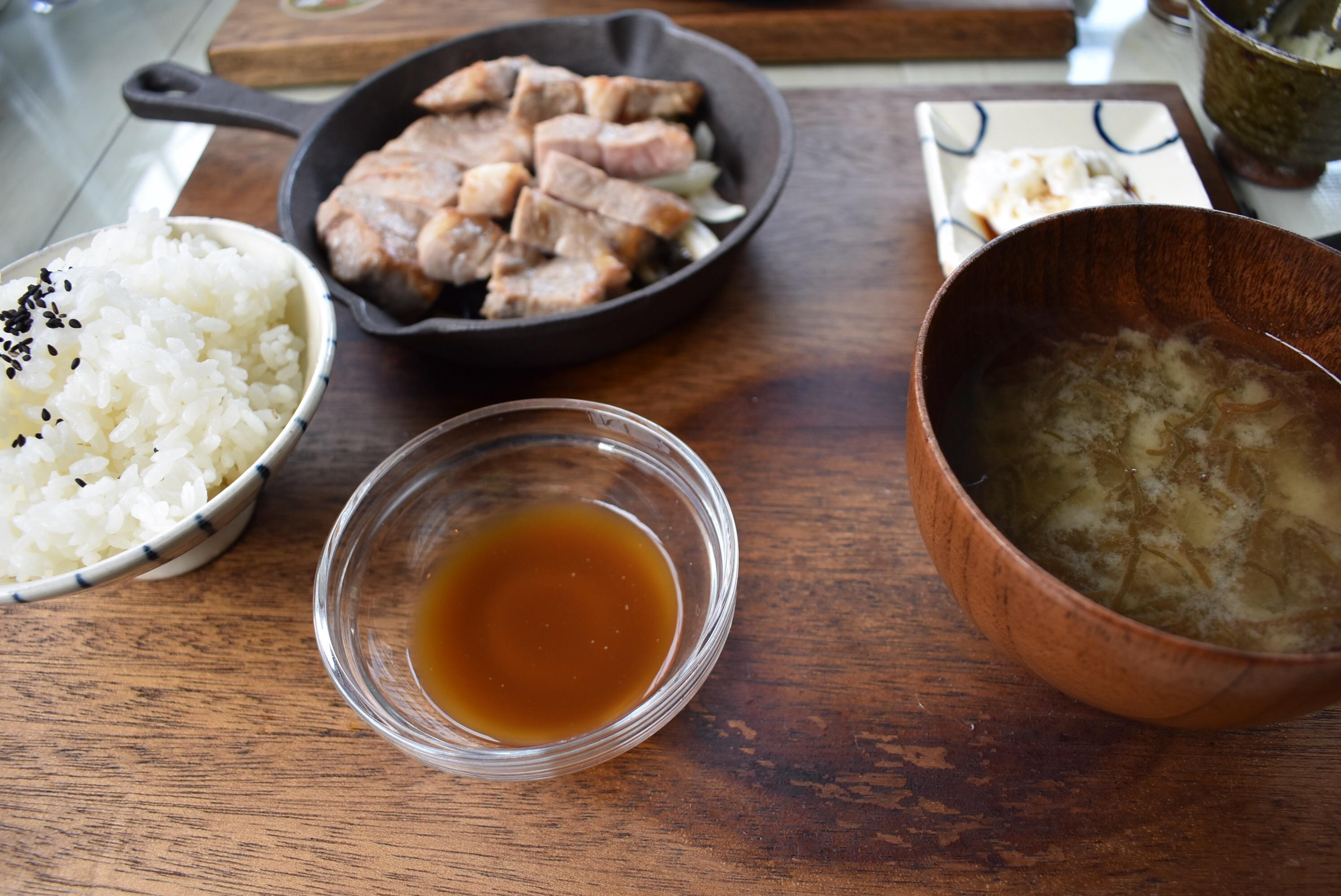 県産豚ステーキ定食