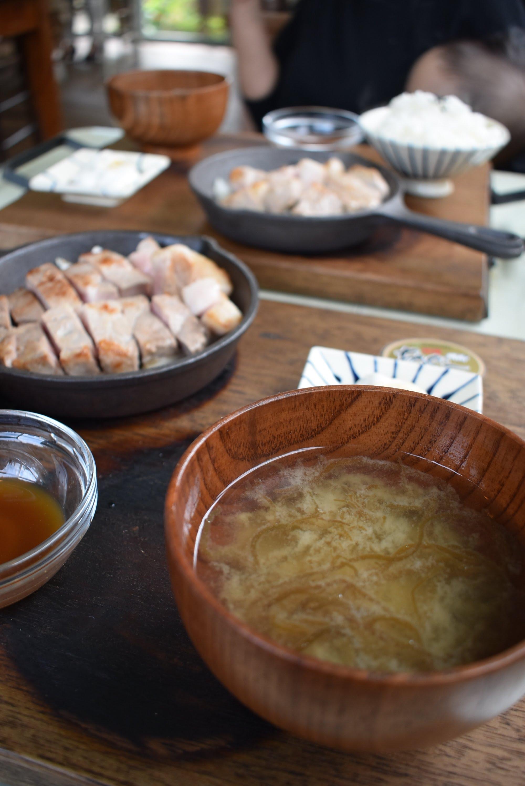 あぐーロースステーキ、県産豚ステーキ定食