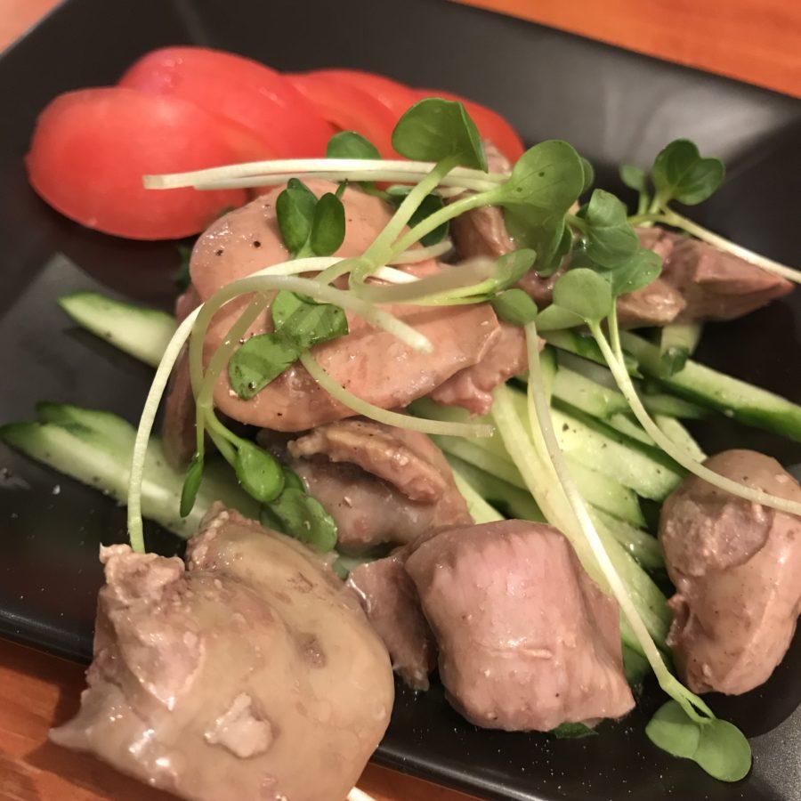 県産鶏レバーと砂肝のコンフィ
