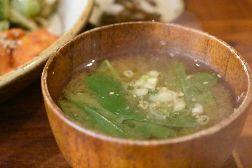シビランの味噌汁