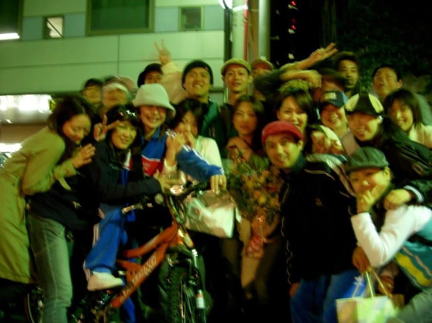 福岡のダンス仲間たちと飲み会後