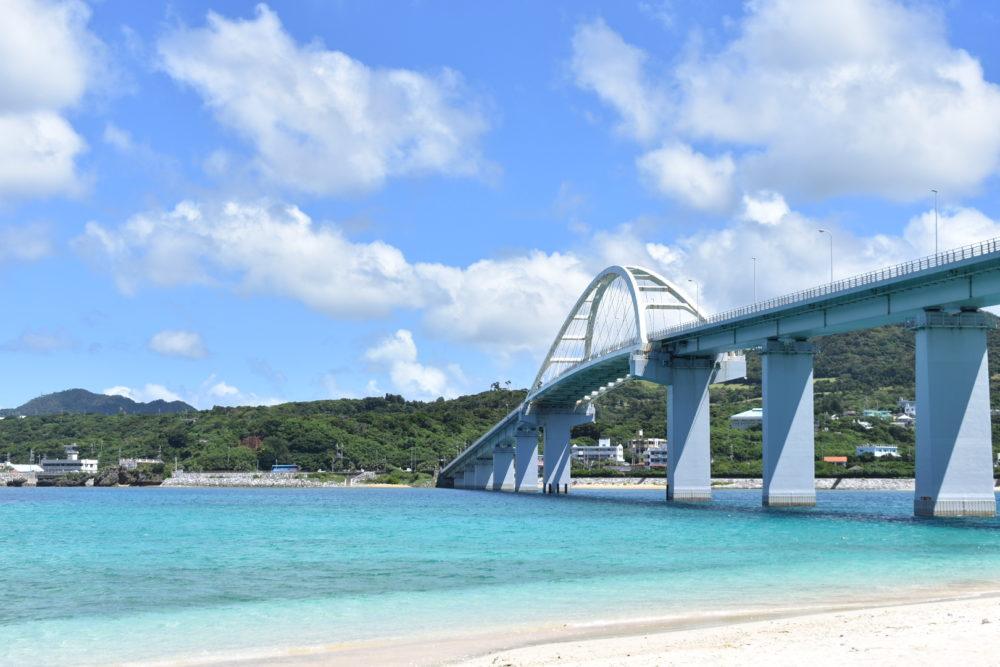 アンチ浜からみた瀬底大橋