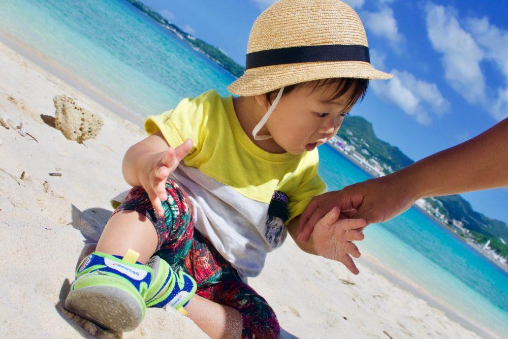 砂浜系のビーチは小さい子には微妙