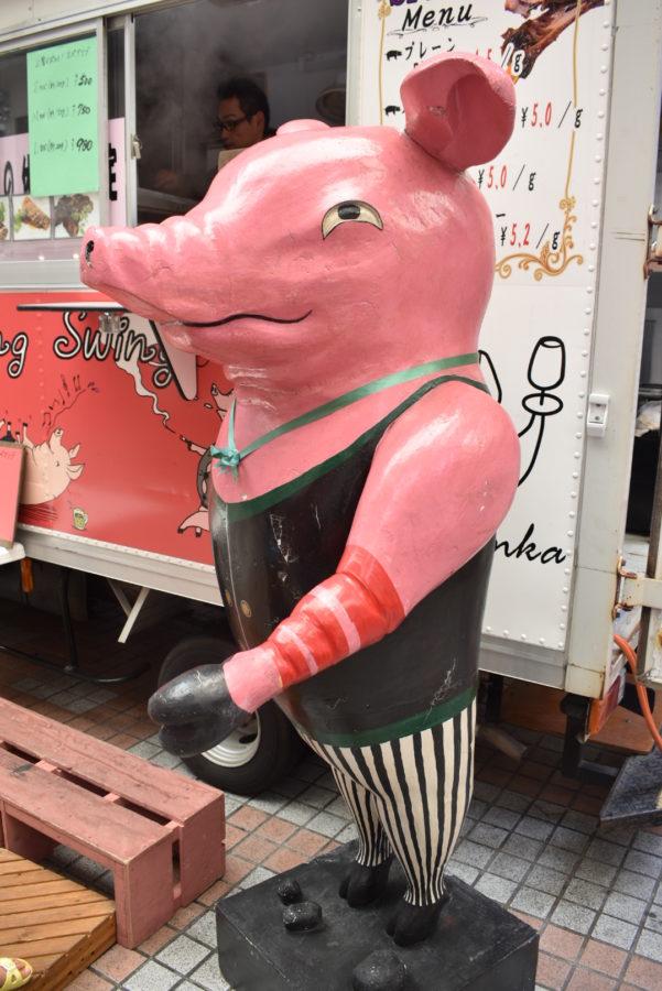 豚のマスコット