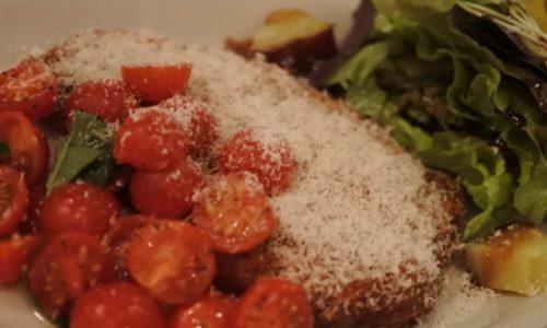 県産豚ロース肉のミラノ風カツレツ