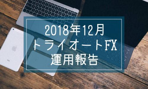 2018年12月トライオートFX運用報告