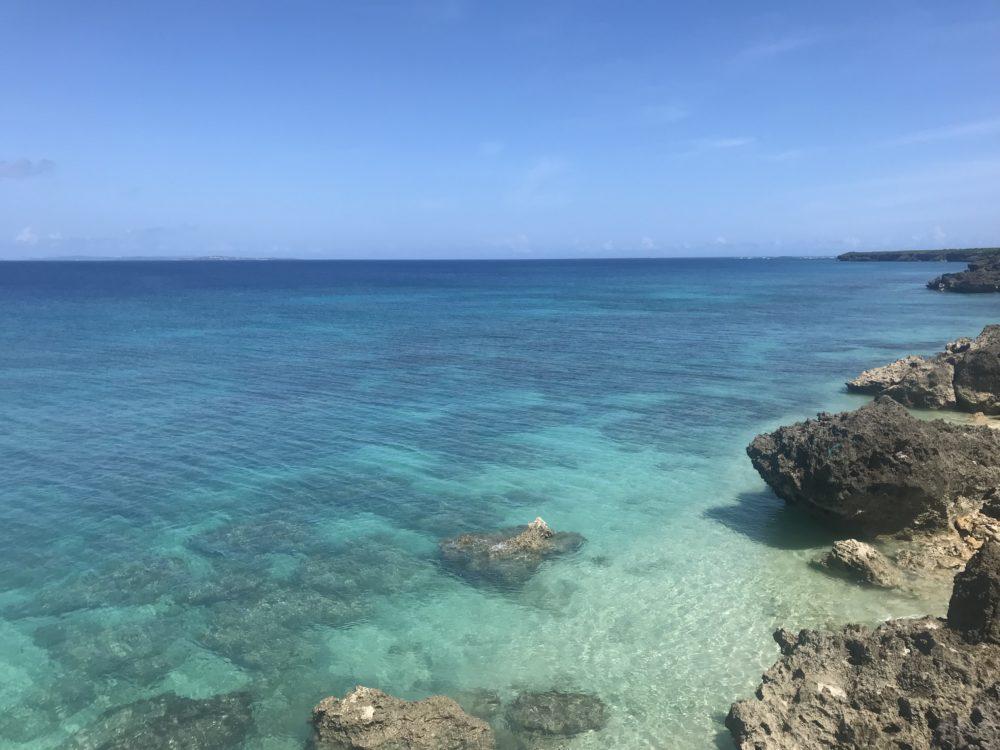 海が綺麗すぎる