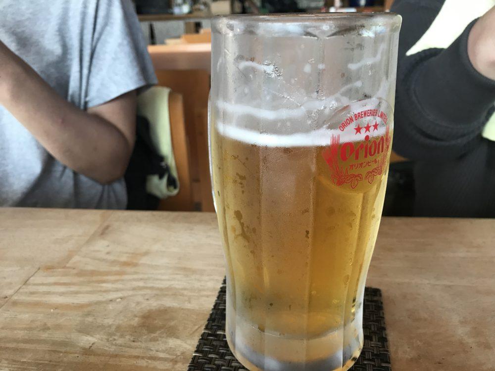 汗かいたあとのビールはうまい